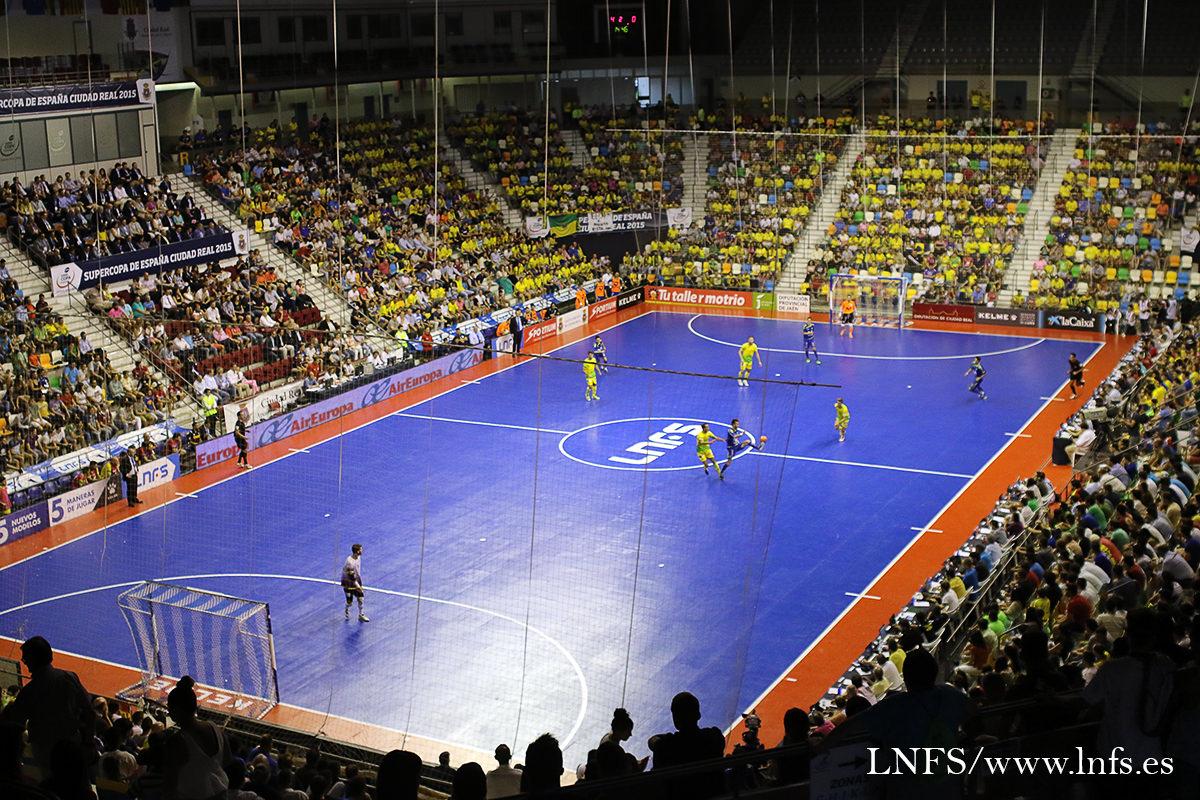 スペイン・スーパーカップ2015の会場となったキホーテ・アレーナの館内の様子