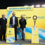 UEFAフットサルカップ15-16決勝ラウンドの抽選会に出席したリカルジーニョ