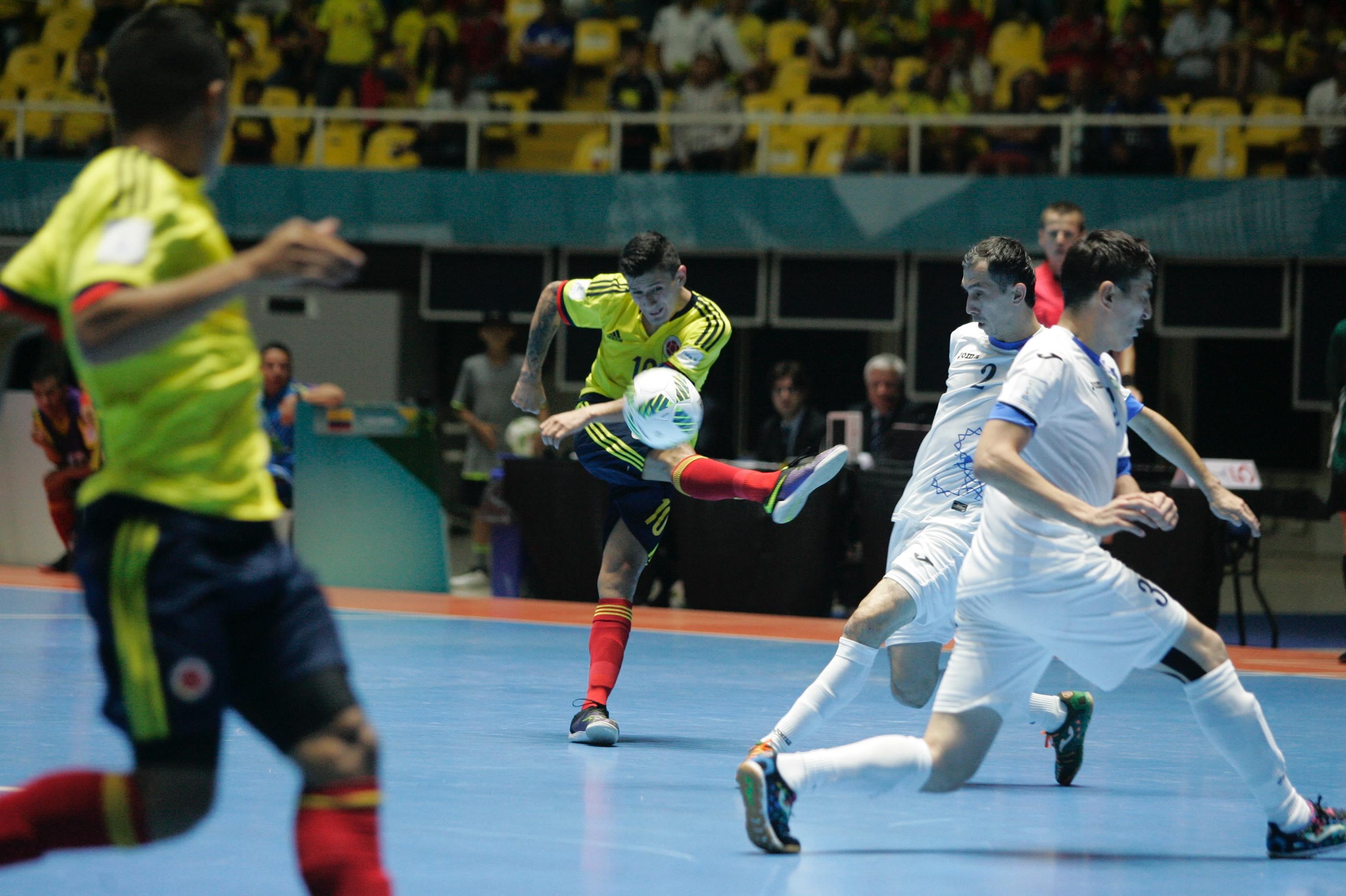 コロンビア代表のキャプテン、アンジェロット。2試合で3得点を決めたエースの活躍に期待がかかる。